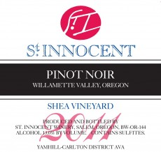 2011 Pinot noir Shea Vineyard label