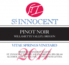 2011 Pinot noir Vitae Springs Vineyard label