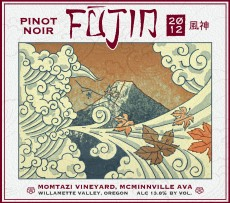 2012 Pinot noir Momtazi Vineyard Fujin label