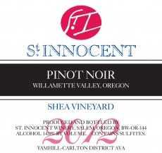 2012 Pinot noir Shea Vineyard label