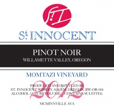 2012 Pinot noir Momtazi Vineyard label