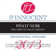 2013 Pinot noir Freedom Hill Vineyard label