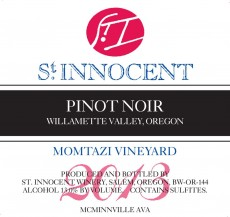 2013 Pinot noir Momtazi Vineyard label