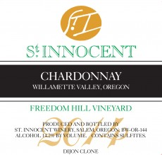 2014 Chardonnay Freedom Hill Vineyard label