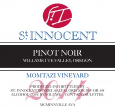 2014 Pinot noir Momtazi Vineyard label