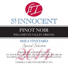 2014 Pinot noir Shea Vineyard Special Selection label