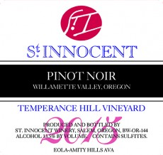 2015 Temperance Hill Vineyard Pinot noir label