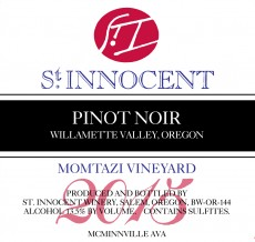 2015 Pinot noir, Momtazi Vineyard label