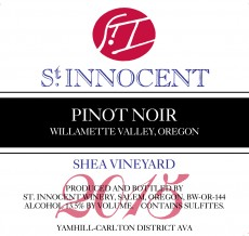 2015 Pinot noir Shea Vineyard label