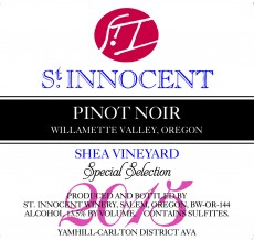 2015 Pinot noir Shea Vineyard Special Selection label