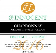 2016 Chardonnay Freedom Hill Vineyard label