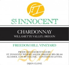 2011 Chardonnay Freedom Hill Vineyard label