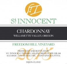 2015 Chardonnay Freedom Hill Vineyard label