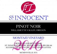 2016 Pinot Noir Momtazi Vineyard label